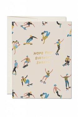 Red Cap Cards Shreds Birthday Card