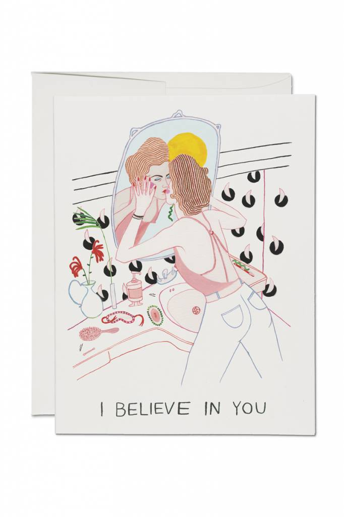 Red Cap Cards Self Reflection Card