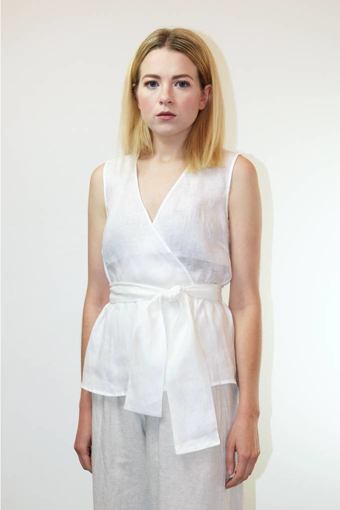 Just Female Isabella Blouse in White