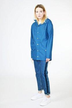 Rains Rains Jacket in Faded Blue