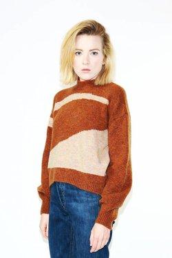 Paloma Wool Vega Sweater in Shiny Brown