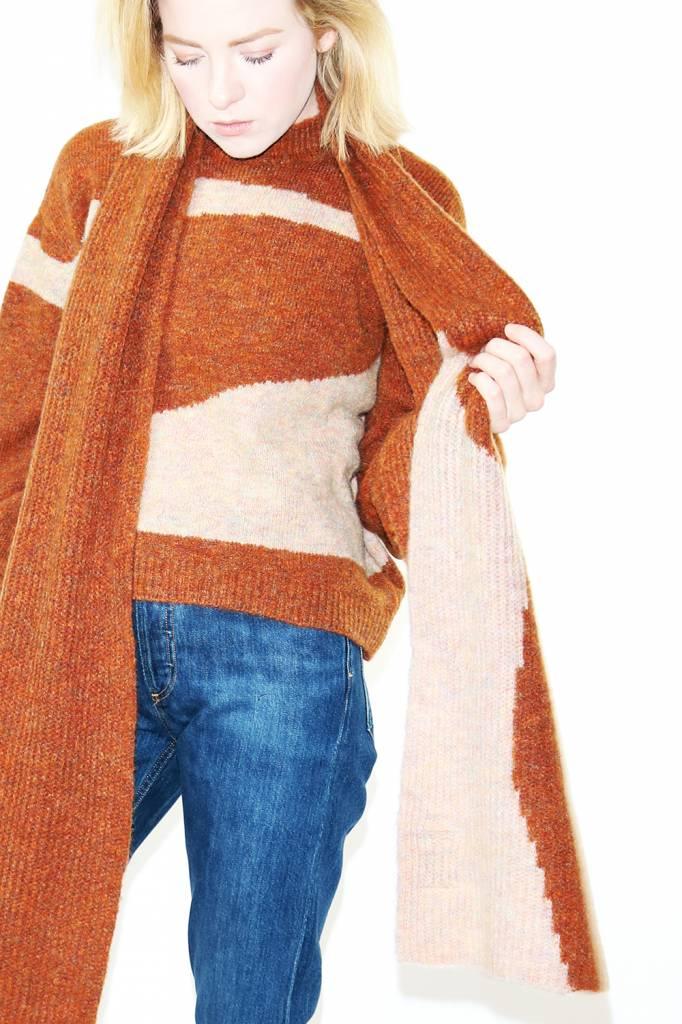 Paloma Wool Lúa Scarf in Shiny Brown