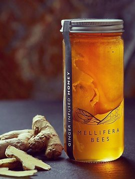 mellifera bees ginger honey 4oz
