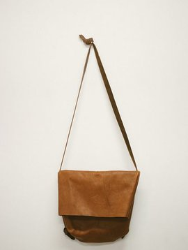 market canvas flip bag brown