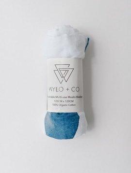 Wylo + Co moody blues organic swaddle