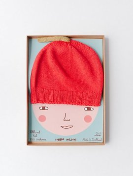 DONNA WILSON cashmere little red baby hat