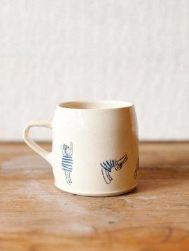 sun salutations mug