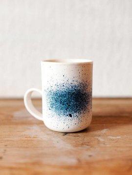 eik ceramics porcelain colbalt mug