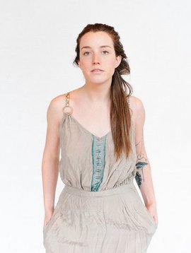 Hazel Brown hemp circle memory dress