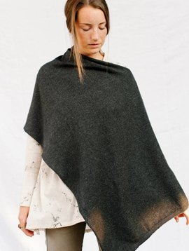 MJ. Watson cashmere silk wrap grey