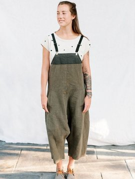 lurdes bergada crop linen overalls