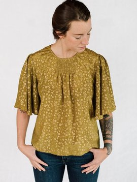 st.roche hope rose print top olive