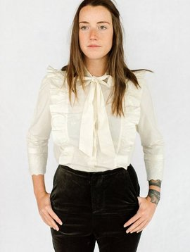 st.roche emily bow blouse cream