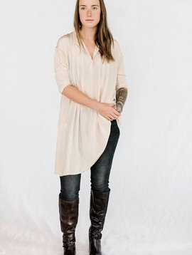 sula wink crepe tunic pink