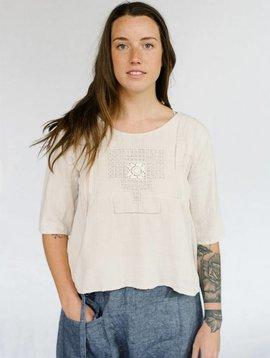 sula metallic embroidered blouse