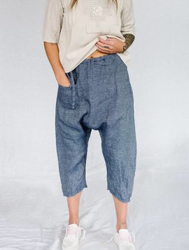 sula low crotch pant denim blue