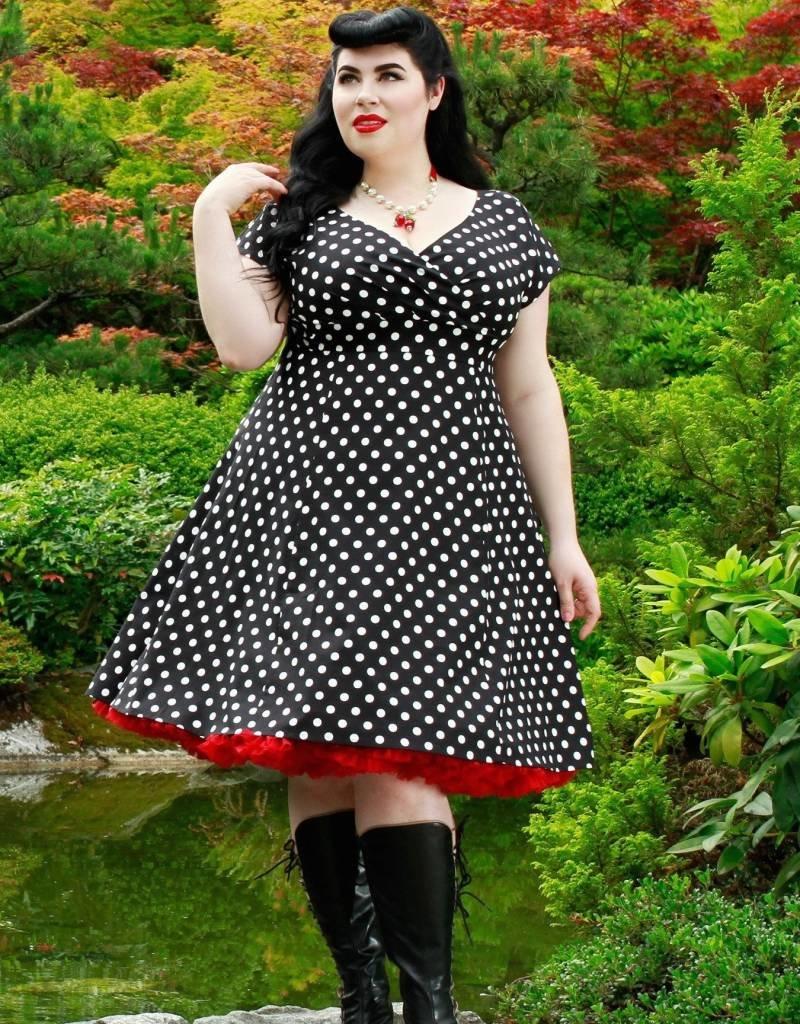 Cherry Velvet Chrissy in Polka Dots