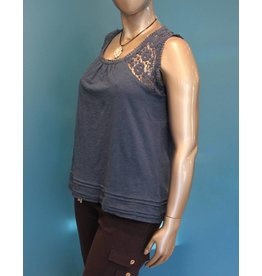 Papa Fashions Teal Tank with Lace