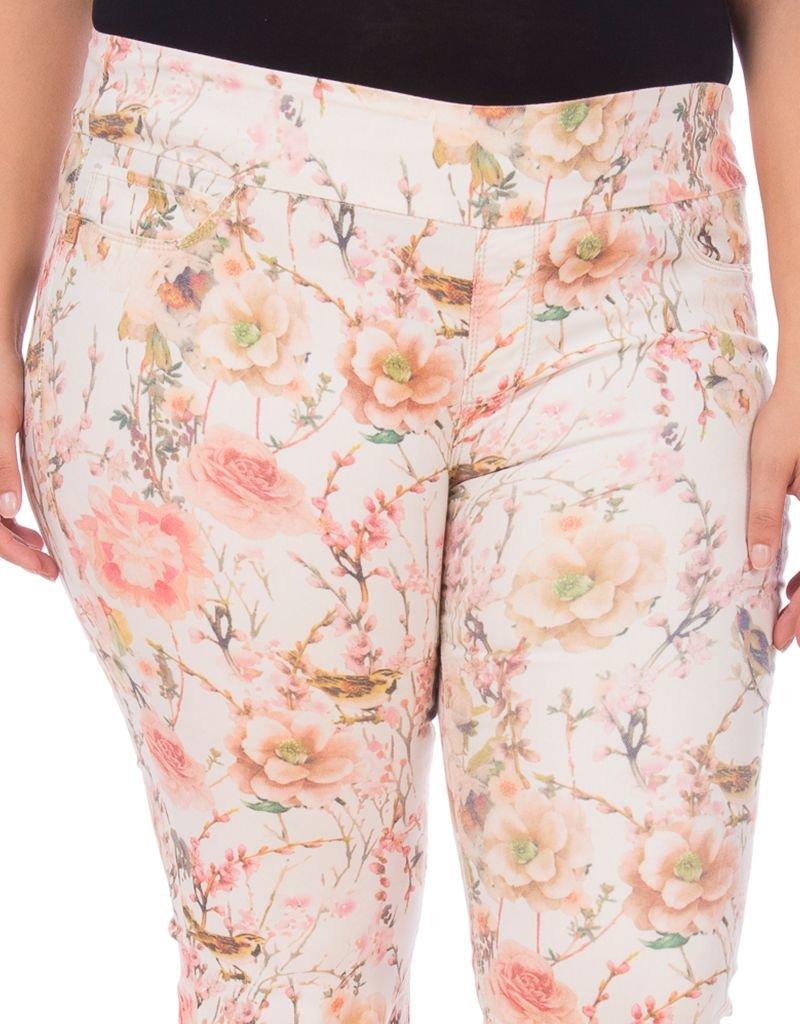 Lola Jeans Michelle Capri in Blossom