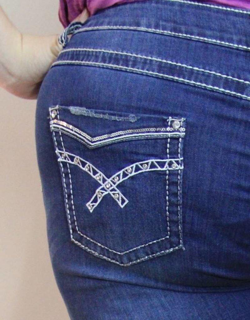 "Carreli Jeans Bling Capri - 21"" Length"