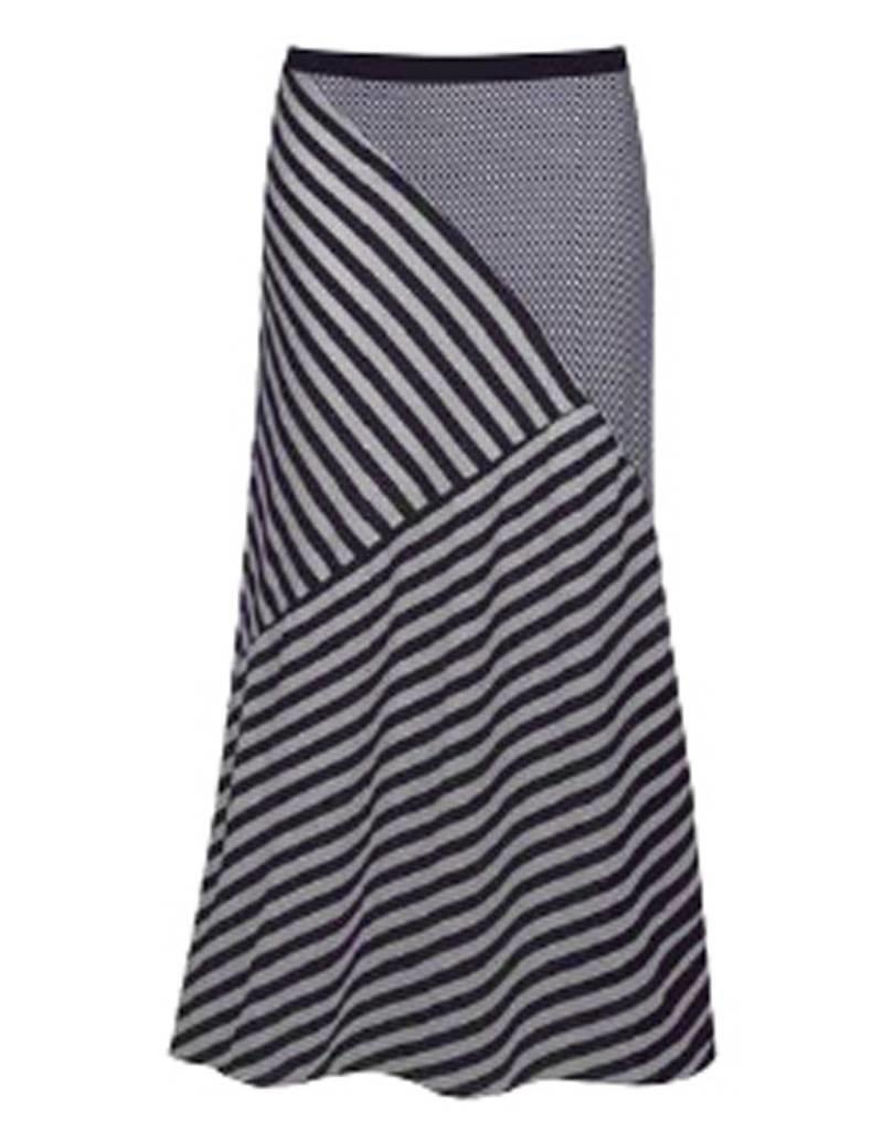 Dex Navy Maxi Skirt