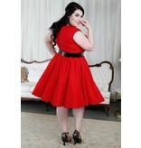 Cherry Velvet Brooke in Red & Black