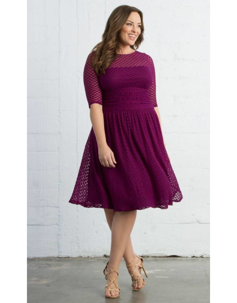 Kiyonna Alexa Retro Dot Dress