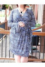 London Times Carla Faux Wrap Dress