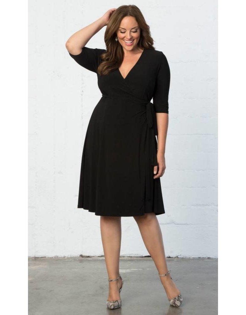 Kiyonna Essential Wrap Dress Black