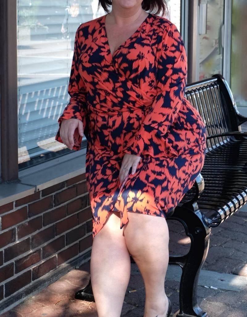 London Times Brooklyn Faux Wrap Dress