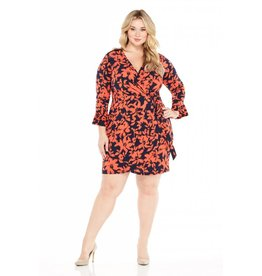 London Times Brooklyn Faux Wrap Dress