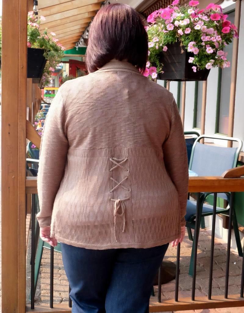 Papa Fashions Lace Up Sweater