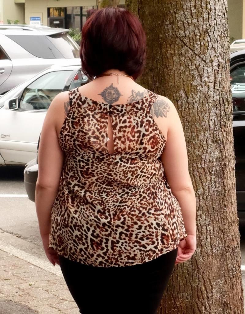 London Times Cheetah Top