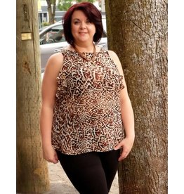 London Times Cheetah Top