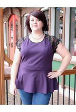 Dex Bethany Peplum Top