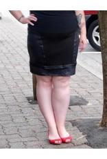 Artex Fashion Leather Detail Skirt