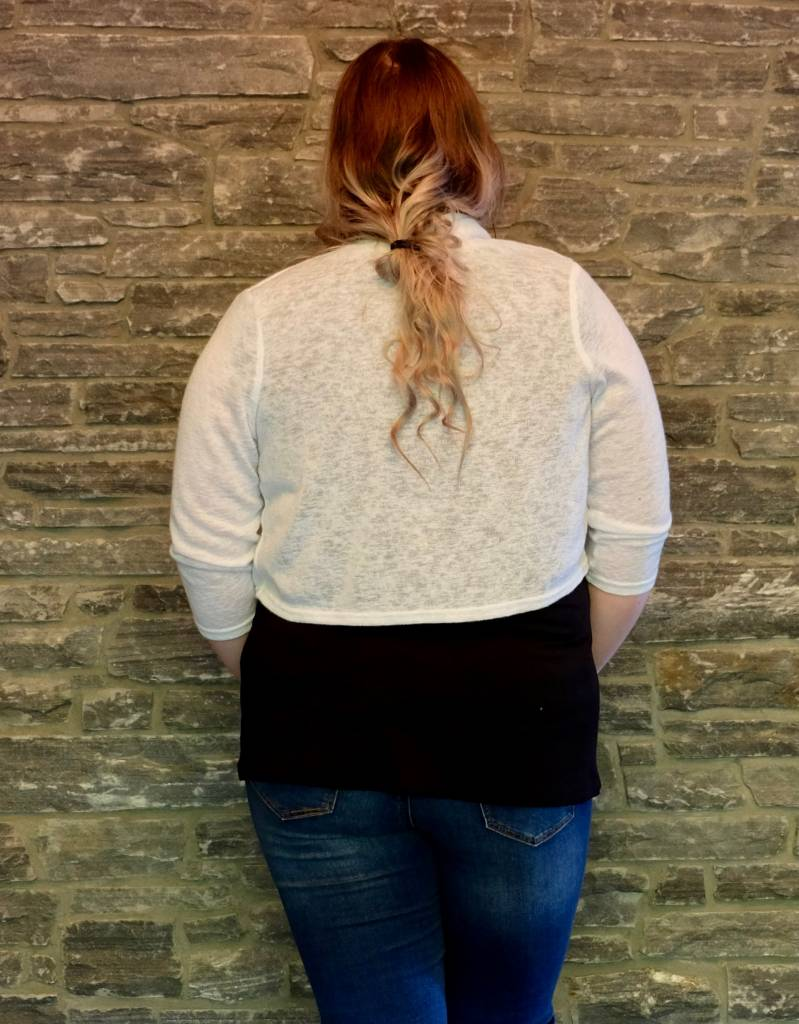 White Sweater Bolero