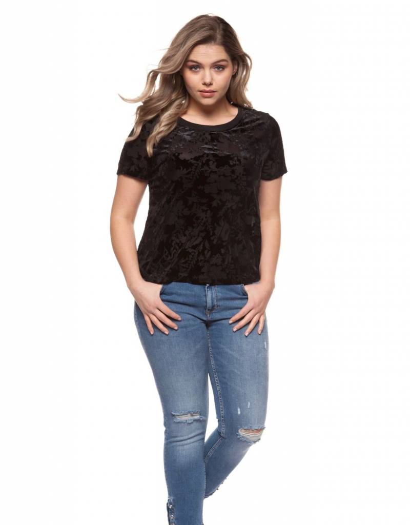 Dex Velvet Burnout Top