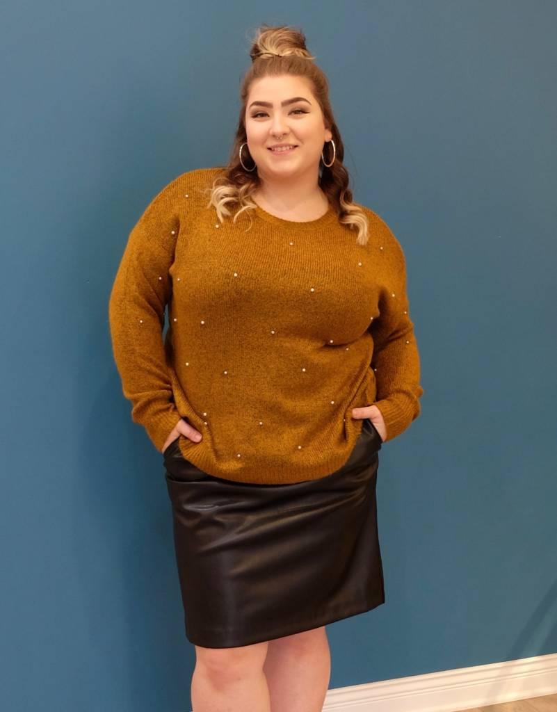 Dex Pearl Stud Sweater