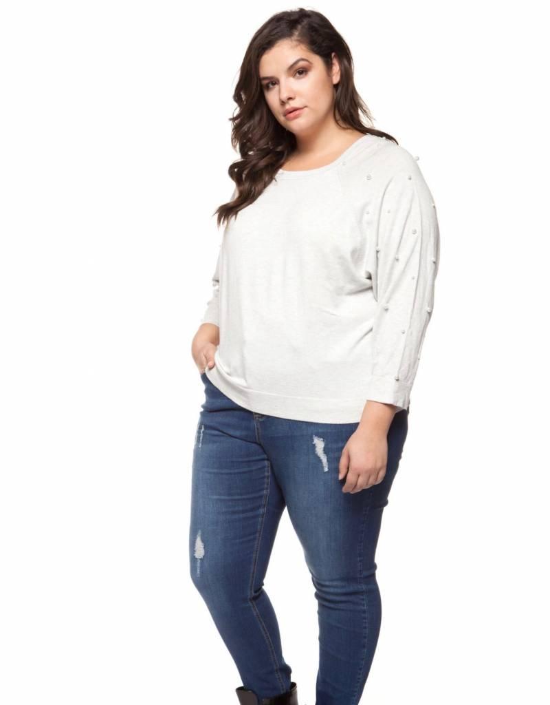 Dex Pearl Sleeve Sweater