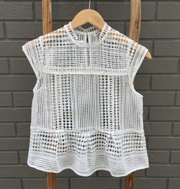 Flying Tomato Lace Open Blouse