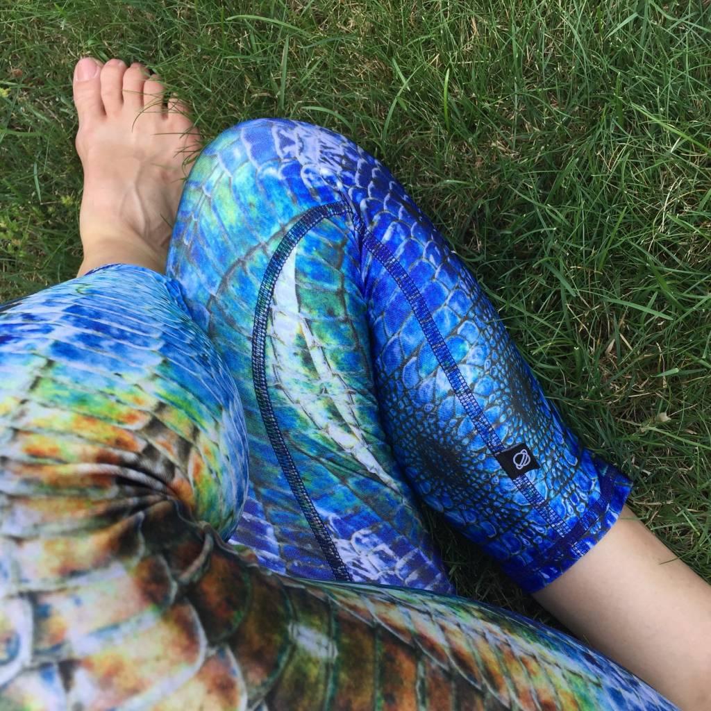 Terez Blue Meditation Capri Legging