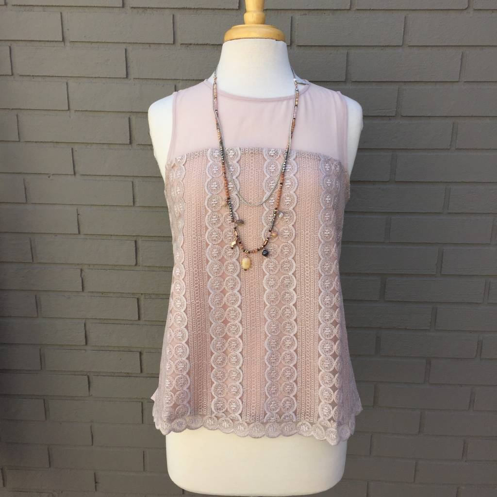 Rose Leila Lace Woven Top ORIG 94