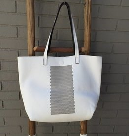Triple 7 Global White Perforated Tote