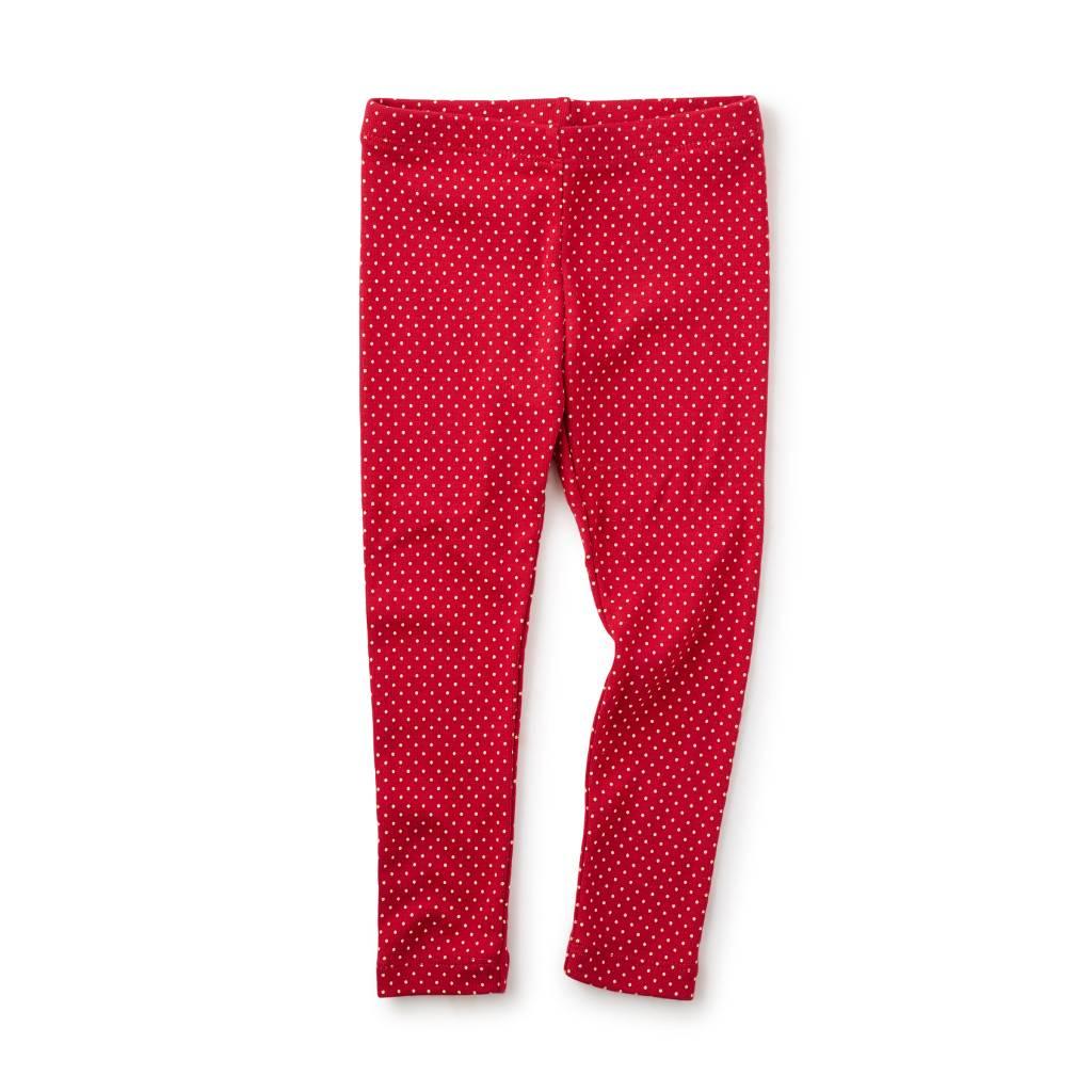 Red Pin Dot Leggings