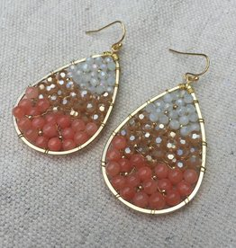 Nakamol WEX5694 Coral Earrings