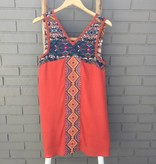 THML Orange Empire Waist Dress w Embroidery