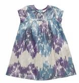 Pink Chicken Blue Silver Ikat Melodie Dress ORIG 74