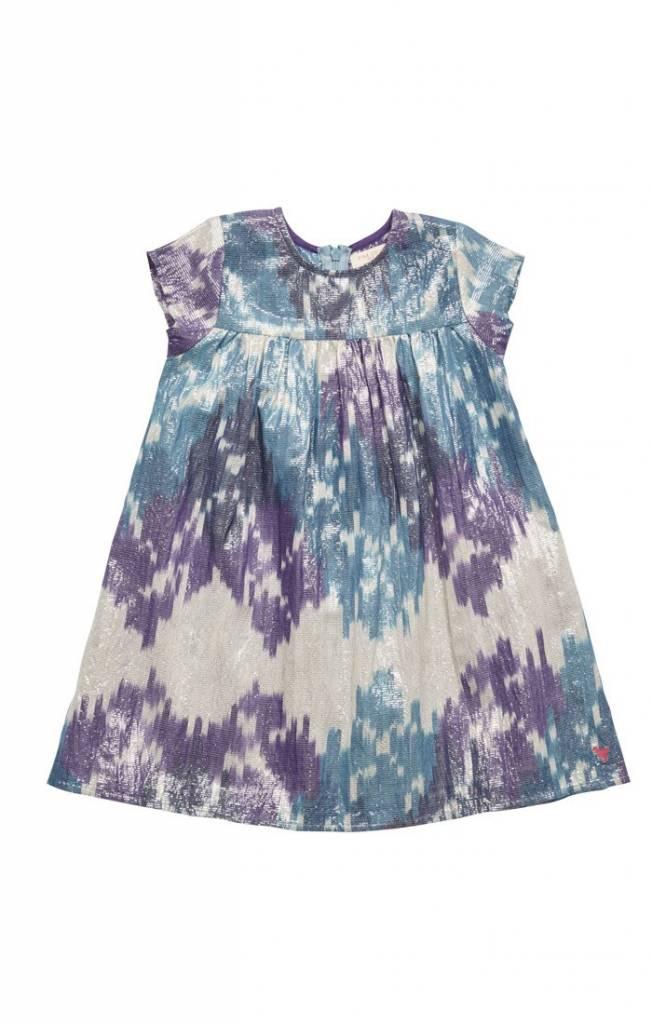 Blue Silver Ikat Melodie Dress ORIG 74