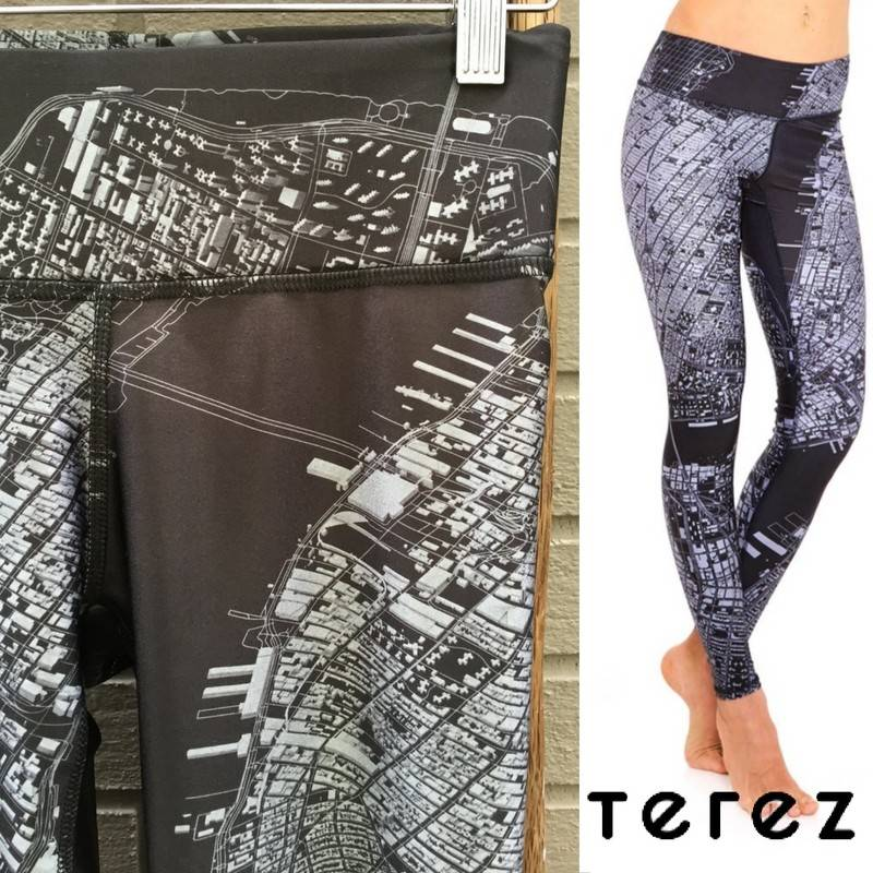 Terez 3D NYC Tall Band Leggings